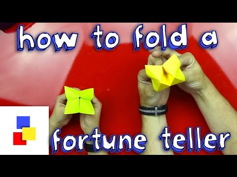 How To Fold A Fortune Teller
