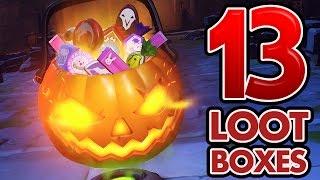 Overwatch Halloween Loot Boxes - 13 boxes, 6 legendaries.