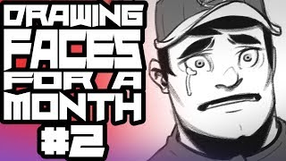 Drawing Faces For A Month #2 - Character Generator Continued