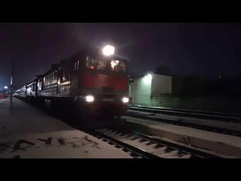 Поезд №603Ч Москва-Киевская - Москва-Павелецкая на станции Калуга-1, 1.11.2019.