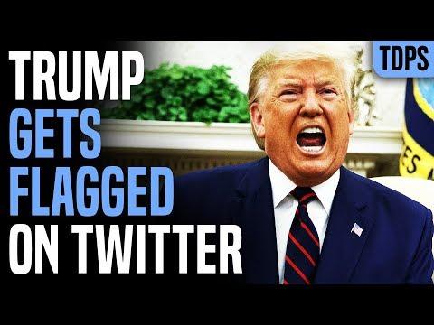 Trump LOSES IT As Twitter Flags His Tweets Fake News