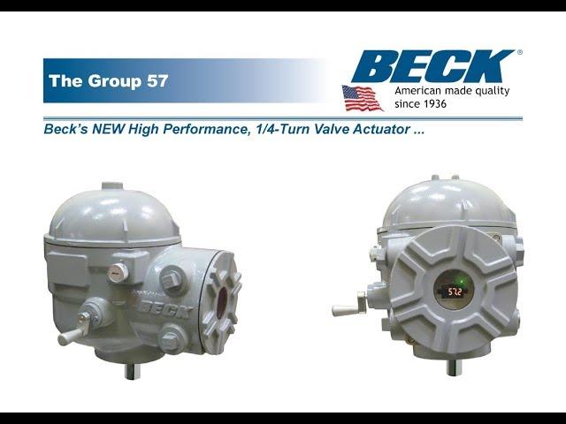 BECK's New Group 57 Quarter-turn Valve Actuator