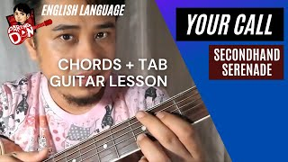 Your Call (chords + tab) Secondhand Serenade Guitar tutorial