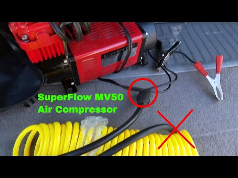 ✅ How To Use SuperFlow MV50 Air Compressor Review
