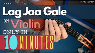 how-to-play-lag-jaa-gale-on-violin-urdu-hindi-easy-music-tutorials
