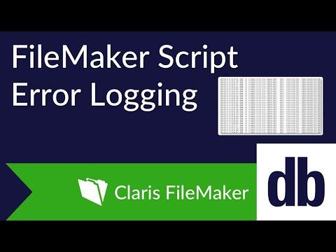FileMaker Script Error Logging