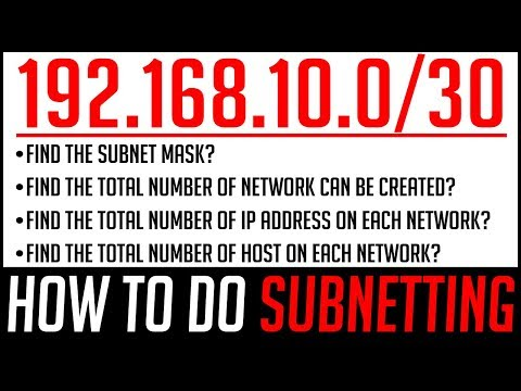 SUBNETTING In Computer Network   How To Find Subnet Mask