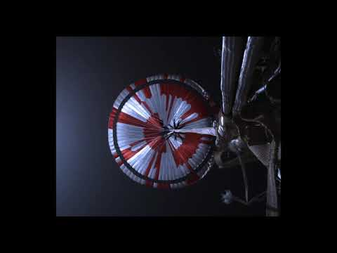 Perseverance's Descent & Touchdown on Mars: Parachute Deploy Slowed to 30% speed(Official NASA Clip)