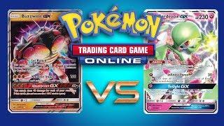 Buzzwole GX / Garbodor vs Gardevoir GX - Pokemon TCG Online Gameplay