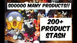 BIGGEST NATURAL HAIR PRODUCT STASH EVERRR OVER 200+ PRODUCTS (prt1)