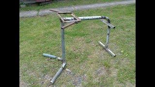 Тренажер для спины 'римский стул' для  гиперэкстензии, своими руками