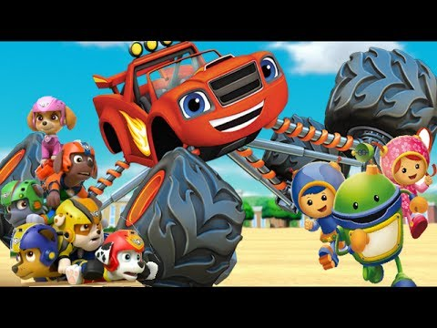 Paw Patrol Blaze and The Monster Machines Team Umizoomi - Nick Jr Games Video For Kids