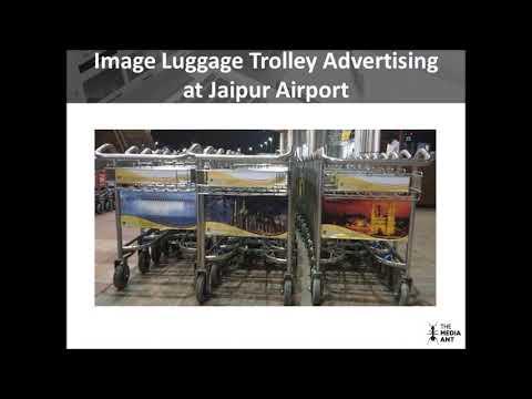 Luggage Trolley Advertising at Jaipur Airport