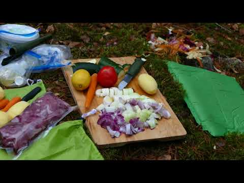 Outdoor life: Cooking food in the woods
