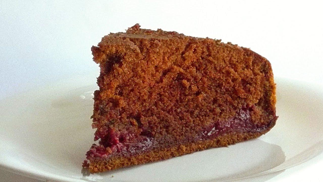 шоколадный кекс на сметане с вишней рецепт