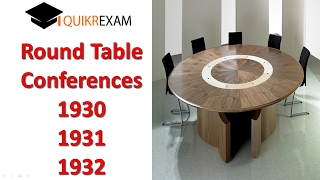 Why Round Table Conferences? The three Round Table Conferences of 1...