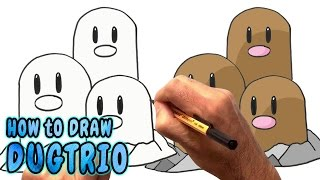 How to Draw Dugtrio from Pokemon Go - Super Easy (NARRATED)