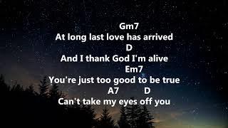 Can't Take My Eyes Off You - Frankie Valli - Lyrics & Chords