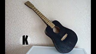 Как сделать гитару из картона? / How to make a guitar from cardboard?