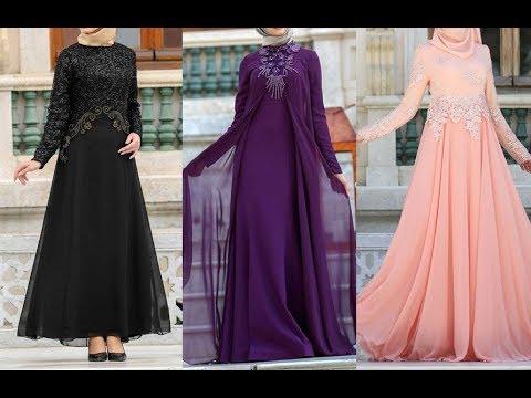 0de9fee7c أجمل فساتين تركية للمحجبات 2019 بألوان وتصاميم تاخد العقل Turkish dress