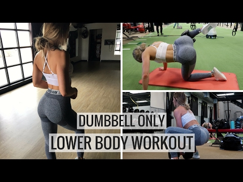 Dumbbell Only Complete Leg Workout | Booty Building