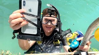[9.56 MB] I Found an iPhone XS MAX Underwater in DEEP River Weeds - Still Turns On!