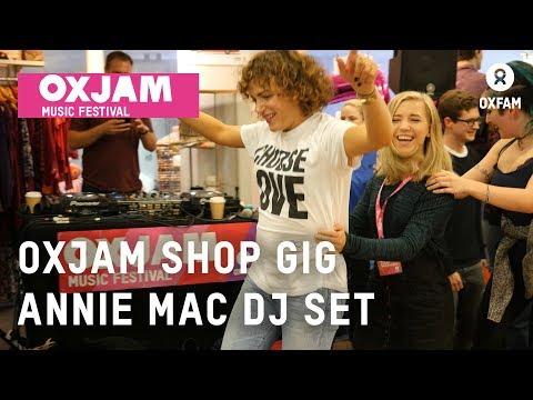 Annie Mac Oxjam DJ set in a Manchester Oxfam shop | Oxfam GB