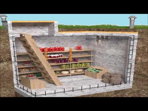 Как построить погреб для хранения овощей видео
