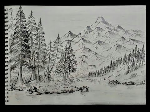 Karakalem Manzara Çizimi - Kolay Manzara Çizimi Nasıl Yapılır?