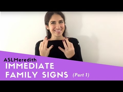 Learn ASL: Beginner Lesson for Family Signs, Part 1: Immediate Family in American Sign Language