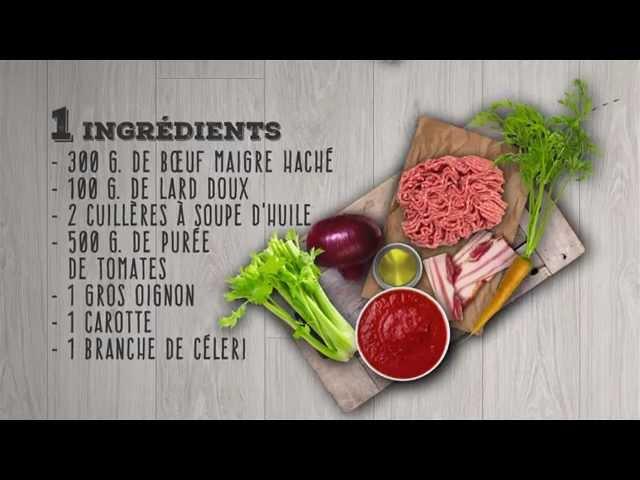 La Recette Minute de Saclà : La Sauce Bolognese
