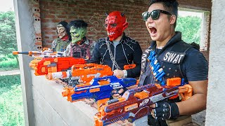 LTT Films : Special Mission Silver Flash Nerf Guns Fight Criminal Group BIGMAN Mask Mafia