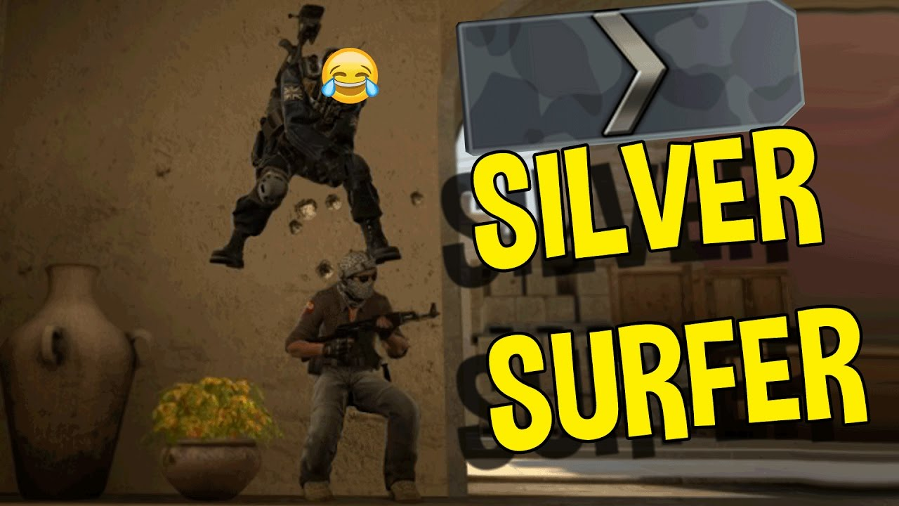 CS:GO SILVER FUNNY  MOMENTS   SILVER SURFING BOTS, BIGGEST FAIL & MORE