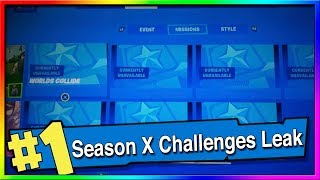 FORTNITE SEASON X WEEKLY CHALLENGES LEAKED! Fortnite Coming Soon Missions REVEALED!