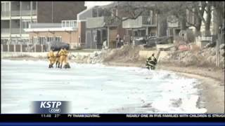 Iowa Firefighters Rescue 2 Deer Stranded on Icy Lake