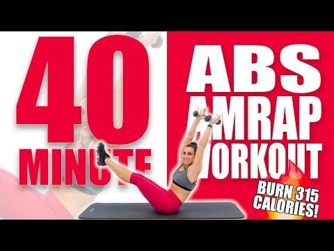 40 Minute Abs AMRAP Workout 🔥Burn 315 Calories 🔥Sydney Cummings