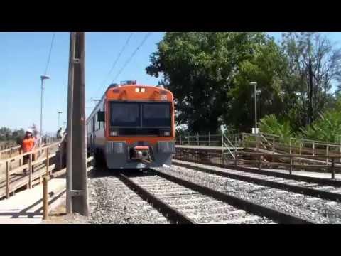 Metrotren De Llagada A Est. Buin Zoo En Direccion Alameda