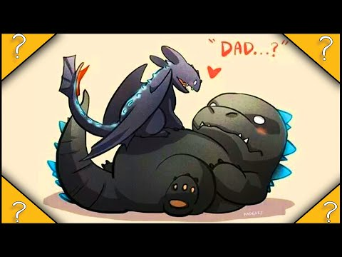 What if GODZILLA was in How to train your dragon |