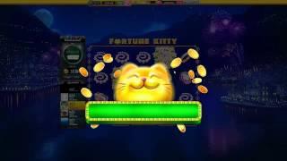 Slotomania Slot Machines | New Game | Fortune Kitty - first start + wild + bonus | Amazing Wins