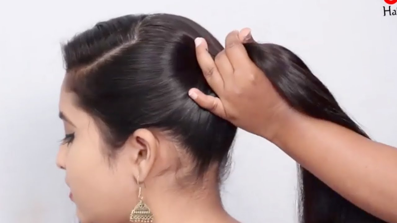 EASY GUM HAIR THAT YOU LIKE.!! Quick and Easy Hairstyle for ladies | hair style girl | hairstyle