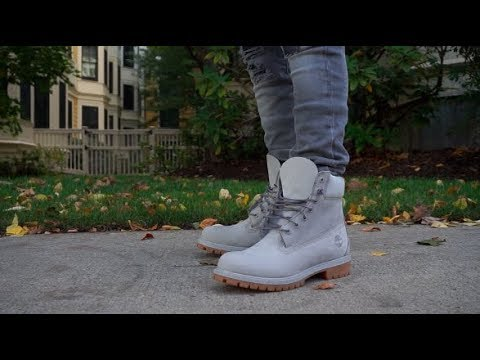 Timberland 6 Quot Premium Grey Boot Review On Feet Youtube