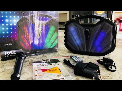 Pyle Portable Bluetooth Speaker Karaoke PA System REVIEW - Model PWMA285BT