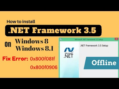 Hindi l How to Fix .Net Framework 3.5 install Error  0x800f0906 / 0x800f081f on Windows 8 and  8.1