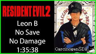 Resident Evil 2 (PSX) No Save, No Damage - Leon B - (1:35:38) [Commentated]