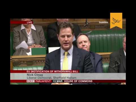 Nick Clegg on Government's 'shameful inaction' over securing rights of EU citizens in UK