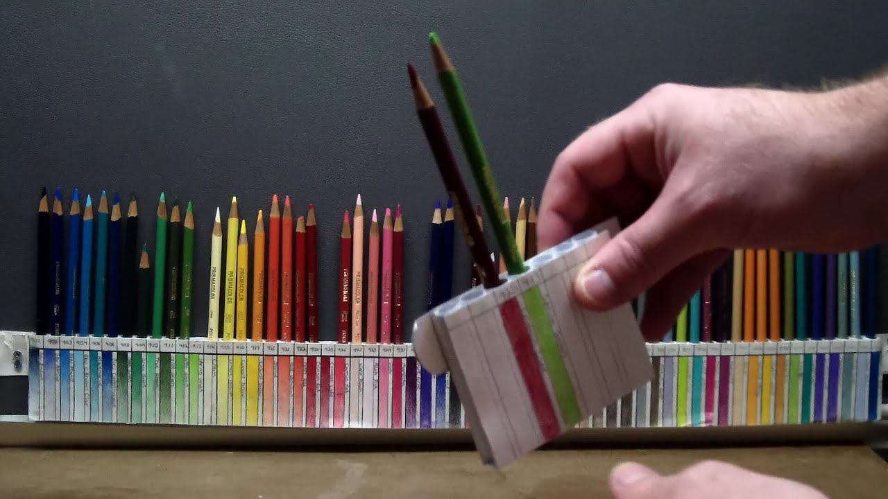 diy: custom pencil holder for prismacolor - youtube