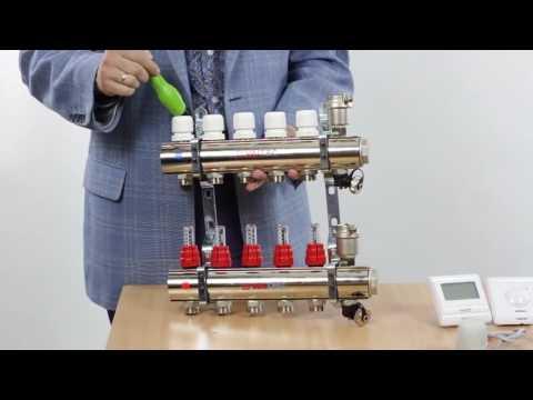 Коллекторный блок VALTEC для водяного теплого пола и горизонтальной разводки радиаторов отопления