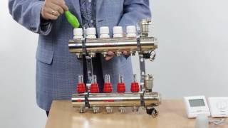 Коллекторный блок VALTEC для водяного теплого пола и горизонтальной разводки радиаторов отопления(, 2017-05-17T08:55:01.000Z)
