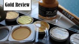 Gold Comparison and Review //Finetec, Winsor and Newton and more