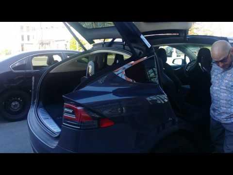 Tesla model x in redhook Brooklyn
